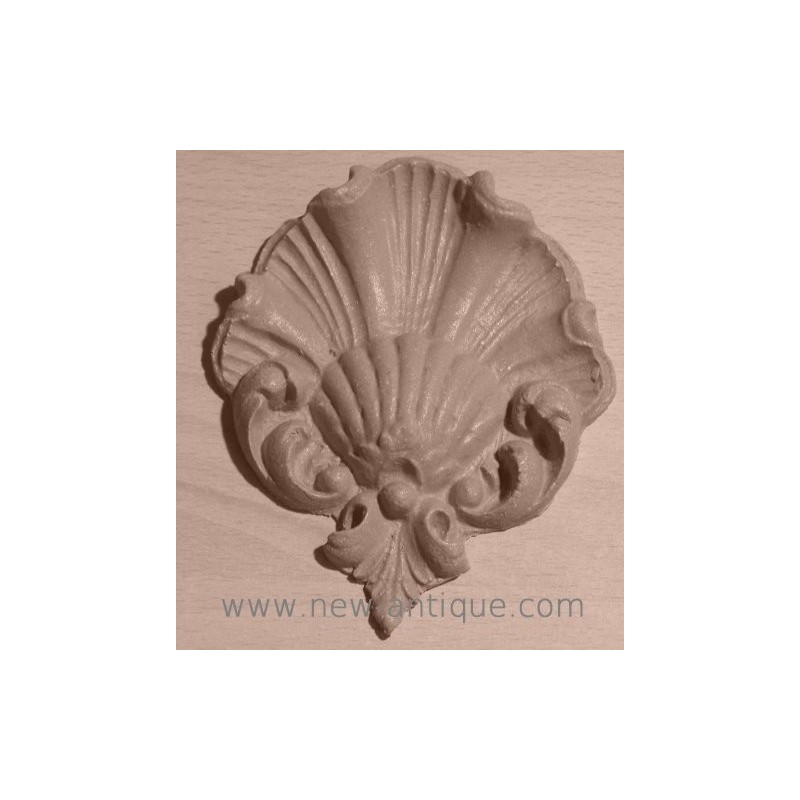 Moulure coquille louis xv bois resine - Moulure bois decorative ...