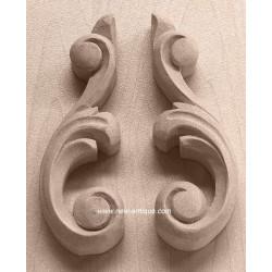 Applique resin / wood 164