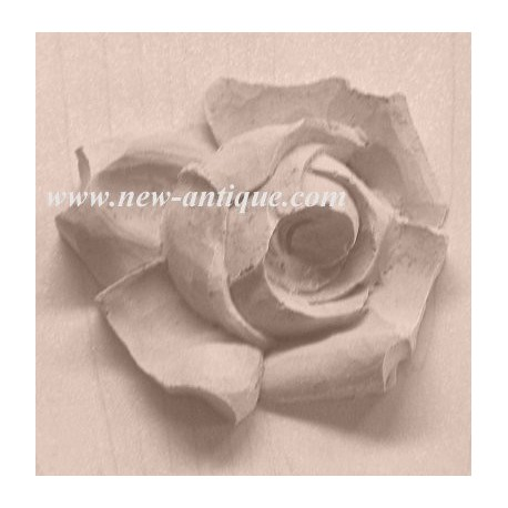 Moulure Decorative Bois Resine De Forme Fleur Rose