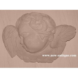 Applique Angel resin / wood 325