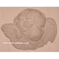 Applique Angel resin / wood 326
